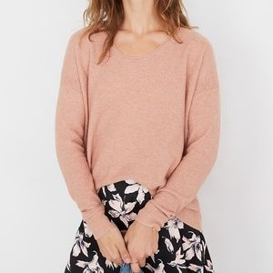 Madewell Pink Kimball Knit Pullover Sweater XXS